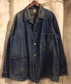 Workwear Fashion, Denim Fashion, Boy Fashion, Raw Denim, Vintage Denim, Military Fashion, Vest Jacket, Work Wear, Denim Button Up