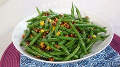 The Marilyn show Green beans and chick pea salad