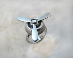 Spinning Propeller Ring Aviator by CuteAbility on Etsy, $14.00
