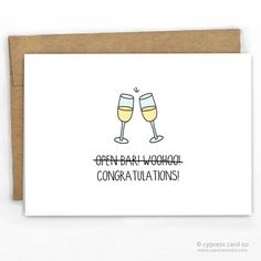 """Baby Congrats Card I'm totally cool with there being a mini (insert name here)! - Blank Inside - A2 size (4.25"""" x 5.5"""") - 100% Recycled Heavy Card Stock with 100% Recycled Kraft Envelope - Packaged in"""
