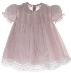 Hiccups Childrens Boutique - Baby Girls Pink Embroidered Slip Dress Feltman Brothers, $67.00 (http://www.hiccupschildrensboutique.com/baby-girls-pink-embroidered-slip-dress-feltman-brothers/)