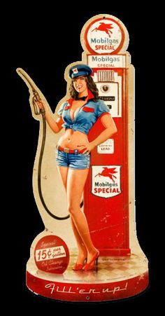 Gas Monkey Garage Girls | Pin Up Girl Signs For Sale - Garage Art
