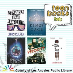 What happens when you invite a celebrity to go on a road trip...and they accept? That's just one of the books on February's Teen Fiction booklist. We put together a dozen books you won't want to miss - stories include a best friend duo drag racing team to a young girl who witnessed the police shooting of her best friend. #lacountylibrary #lacounty #library #reading #books @victoriaaveyard @hrhchriscolfer @acwrites @rhiannon.kt