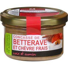 DUCS DE GASCOGNE Concassé de betterave et chèvre frais, noix et cumin
