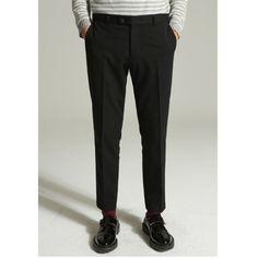 깔끔하게 떨어지는 울 슬랙스 MOST 모스트 [MOST] Modern wool slacks (Black)