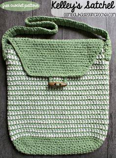 Kelley's Simple Satchel - Free Crochet pattern #freepattern #crochet #bag