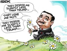 I laughed way too much at this! Steve Sack - The Minneapolis Star Tribune - They Despise Me Less Than Trump 3/25/16. X
