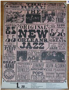 New Orleans Jazz Poster Jazz Festival, Festival Posters, Concert Posters, Music Posters, Jazz Poster, Blue Poster, Jazz Art, Jazz Club, New Orleans Louisiana