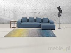 Dywan szaro-niebiesko-żółty - 160x230 cm - Shaggy - poliester - DINAR, Beliani - Wyposażenie wnętrz