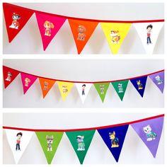 Paw Patrol Rainbow Fabric Bunting Banner Flags #pawpatrol #decorations
