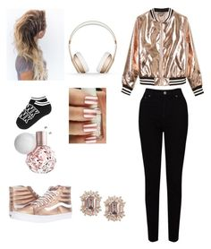 """#Metallic"" by jaydahrich ❤ liked on Polyvore featuring Sans Souci, Vans, EAST and Beats by Dr. Dre"