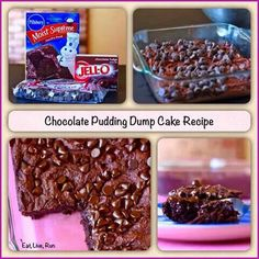 Cocolate pudding dump cake