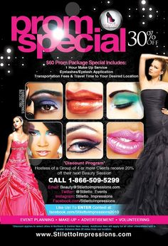 Make Up Artist Promotional Flyer Design