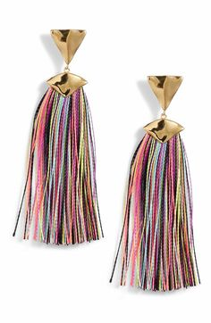 Main Image - Gorjana Havana Triangle Tassel Earrings