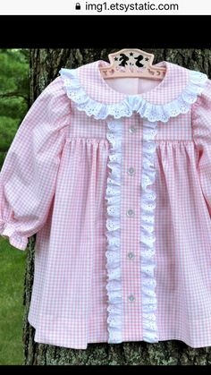 Kids Frocks, Frocks For Girls, Little Girl Dresses, Girls Dresses, Toddler Dress, Baby & Toddler Clothing, Baby Dress, Lazy Day Outfits, Kids Outfits