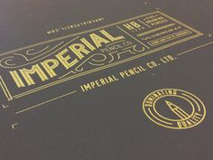 Imperial Pencil Co. #packaging #typography #dribbble