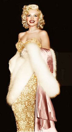"The premier of How To Marry A Millionaire. The night she said ""I want to feel blonde all over."""