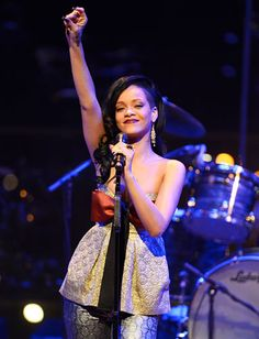 "#Rihanna (in #StellaMcCartney) raised the roof at the #Time 100 Gala, where she performed Bob Marley's ""Redemption Song"" and acoustic versions of her hits ""We Found Love"" and ""Umbrella."" http://news.instyle.com/photo-gallery/?postgallery=109945#2"