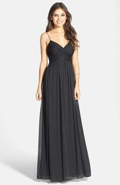 a5de31ff59 Hailey by Adrianna Papell Glitter Mesh Gown Nordstrom