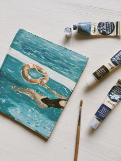 🌊 Summer Painting, Coasters, Posts, Nice, Acrylic Paintings, Messages, Coaster, Nice France