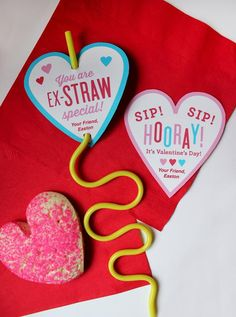 Crazy Straw Valentine – Classroom Valentine, Kids Valentine, Valentine Toy, Stra… – Valentine's Day Funny Valentine, Roses Valentine, Kinder Valentines, Valentine Gifts For Kids, Valentines Day Activities, Homemade Valentines, Valentines Day Treats, Valentine Day Crafts, Valentine Ideas