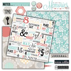 Soft colours and stunning designs come together in another beautiful collection from Teresa Collins. The Memories Collection is the perfect backdrop for your special memories. Photo Corners, Washi Tape, Paper, Stamps and Stickers, make Memories an unforgettable collection.