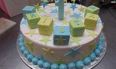 @Kathleen DeCosmo ♡❤ #Cake ❥ Baby Boy 1st Birthday Cake