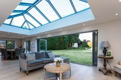 Roof Lanterns, Bi-Fold Doors and Glass Dividers. Unrivalled in bringing natural daylight to your home. Sky Lanterns, Roof Lantern, House Extension Plans, Glass Roof Extension, Side Extension, Kitchen Diner Extension, Orangery Extension Kitchen, Roof Architecture, Roof Light