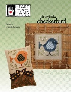 Barnyard Morning /& Folk Art Rooster Country Morning 3 Item Bundle-Buttons and Beads Counted Cross Stitch