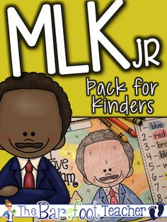 Martin Luther King Jr activity pack for Kindergarteners. Includes emergent reader, color-by-number, pocket chart pieces, vocabulary posters, and more! $