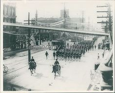 Officials Soldiers in Parade Historical Salt Lake City Original News Service Pho
