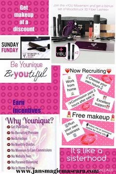 Younique Virtual Party for Jan McMahan 3d Fiber Mascara, 3d Fiber Lashes, Earn Extra Cash, Love Makeup, Younique, Cosmetics, Sign, Free Shipping, Signs