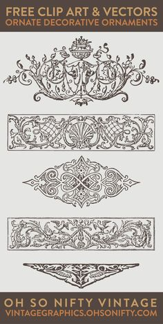 Large, high resolution free ornament clip art!  Print with a laser printer to desired size and use Artisan Enhancements Transfer Gel to apply to your furniture makeover projects!