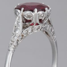 Intricate detailing on this ruby ring