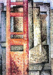 Painting (Deployment-intersection) by Amadeo de Souza Cardoso Paula Modersohn Becker, Black Figure, Gustav Klimt, Geometry, Abstract Art, Sculpture, Wood, Artwork, Crafts