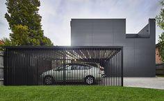 Modscape Modular Homes - Innovative Prefab Homes - Victoria - NSW - Australia Wide Metal Barn Homes, Metal Building Homes, Pole Barn Homes, Building Design, Building A House, Modular Homes, Prefab Homes, Modern Carport, White Exterior Houses
