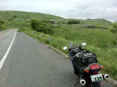 山口県 秋吉台 #road ZZR400 Akiyoshidai is the largest karst plateau in Japan.