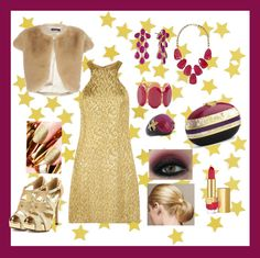 """Gold! :-)"" by lady-grimilde ❤ liked on Polyvore"