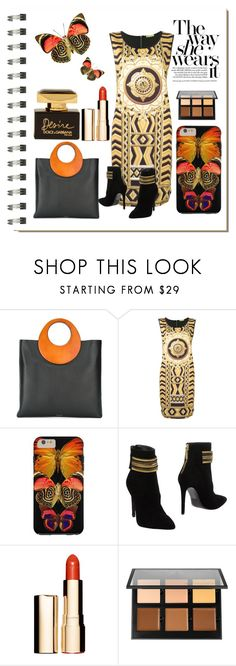 """""""Fly Away With This Beautiful Style"""" by personaleffects ❤ liked on Polyvore featuring Koo, Michael Kors, Versace, Pierre Balmain, Clarins, Anastasia Beverly Hills, Dolce&Gabbana, fashionset, polyvorestyle and polyvorefashion"""