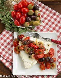 Sea Bass with Tomatoes, Olives and Capers | Easy and delicious!!!