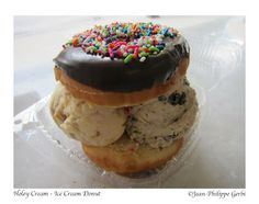 Holey Cream: what Ice Cream Donut Sandwich in NYC, New York??? | I just want to eat!