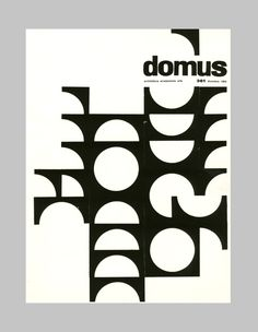 """Ilio Negri, cover design Domus, 1959. Editoriale Domus. Via aiap.it """
