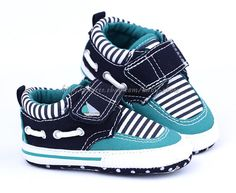 Toddler Baby Boy Strip Boat Shoes Crib Sneaker Size 0 6 6 12 12 18 Months | eBay