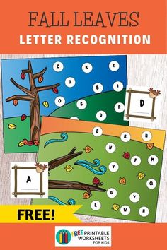 Pick a letter card then find and cover it on the fall-themed playing mat. This is a great independent play activity for preschoolers and kindergarteners that requires little prep time.  #freeprintableworksheetsforkids #fall #autumn #letter #alphabet #pickand cover Free Printable Worksheets, Worksheets For Kids, Printables, Literacy Games, Preschool Activities, Letter Recognition Games, Play Activity, Easy Arts And Crafts, Fun Games For Kids