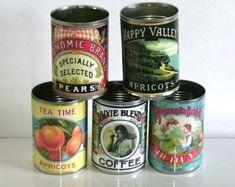 Adorable vintage replica tin cans for kitchen storage or display | #kitchendecor #ad #homedecorideas