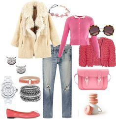 A fashion look from February 2013 featuring pink cardigan, open front cardigan and fur coat. Browse and shop related looks. Shoe Bag, Polyvore, Pink, Stuff To Buy, Shopping, Collection, Design, Women, Fashion