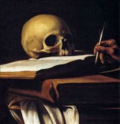 Hyper real; high contrast; faded // St Jerome - Caravaggio