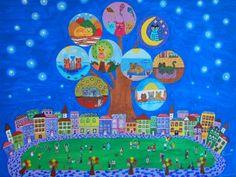 Piluca Soriano. El árbol de los gatos. http://pilarsoriano.wordpress.com/mi-galeria/mis-naifs/