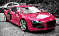 Pink Audi R8 Spyder<3