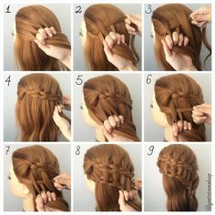 Have you figure out how to do this four strand ladder braids? ❤️ No worry, check out the steps as follow:- 1.Divide into 4 equal section 2.Start braid from the left by over ,under,over 3.Between dropping through hair after 3rd strand 4.Keep braiding until desired length for first ladder 5.Start ladder braid with divide 4 equal session 6.Repeat step 2  7.Adding hair into 3rd strand 8.Keep braiding until desired length 9.finish